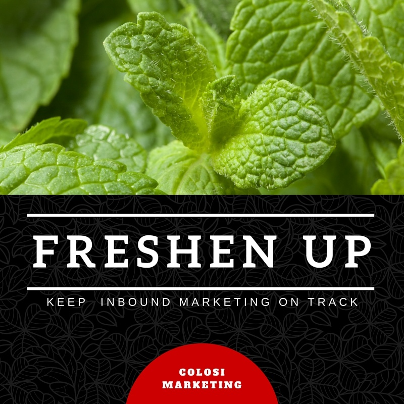 freshen up inbound marketing program